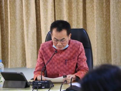 ประชุมทางไกลผ่านระบบ VDO Conference  ในการประชุมผู้บริหารการศึกษา ผู้บริหารสถานศึกษา ผู้อำนวยการกลุ่ม/หน่วยภารกิจ ศึกษานิเทศก์ ครั้งที่ 3/2563