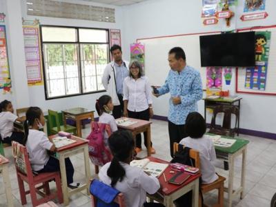 ดร.มโน ชุนดี ผอ.สพป.ลพบุรี เขต 2 พร้อมด้วย บุคลากรทางการศึกษา ตรวจเยี่ยมเพื่อให้กำลังใจผู้บริหารและคณะครู/นักเรียน พร้อมทั้งติดตามการจัด การเรียน การสอนในสถานการณ์การระบาดของเชื้อไวรัสโคโรน่า 2019 และติดตามความคืบหน้า ในการดำเนินงานตามนโยบาย 4 กลยุทธ์ 16